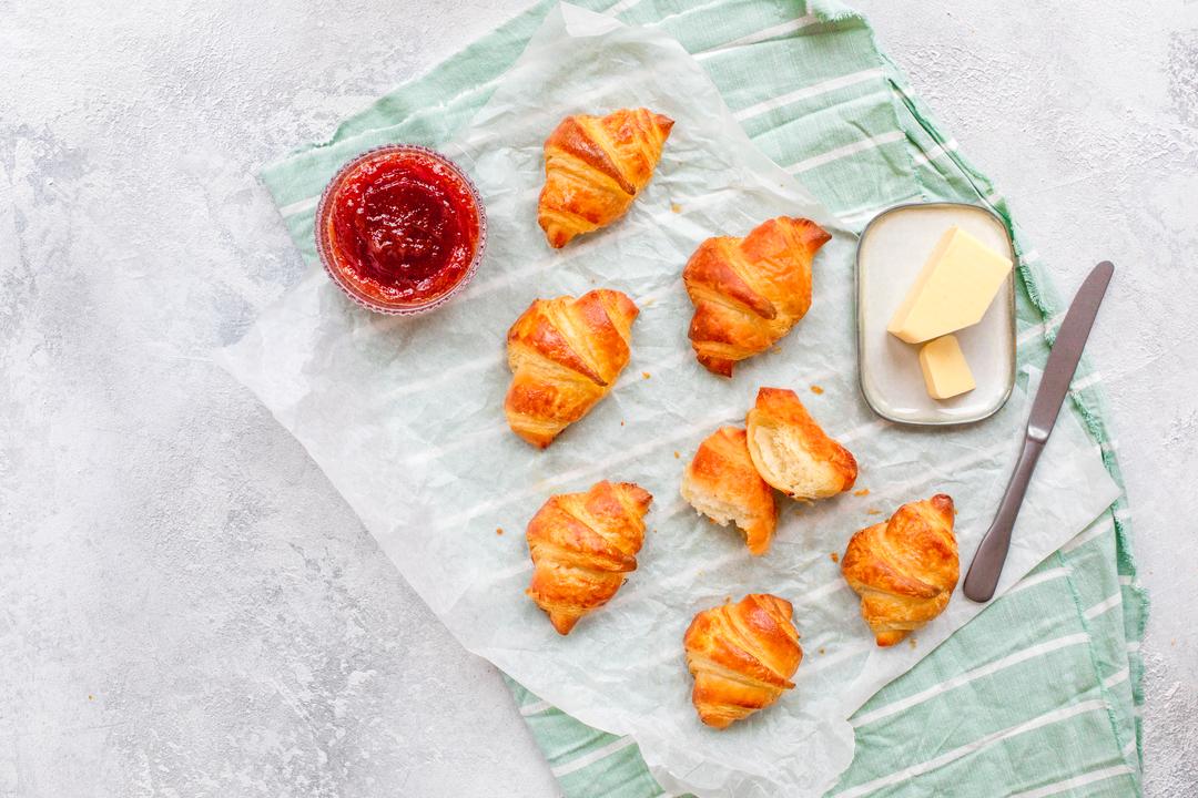 croissants recept