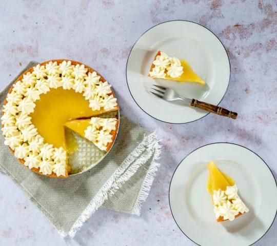 boterkoektaart met lemon curd
