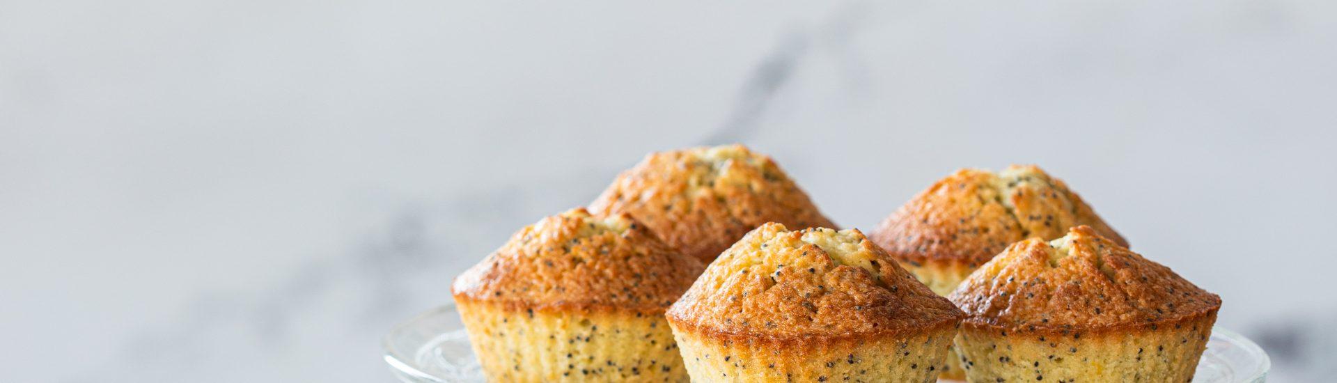 citroen maanzaad cupcakes